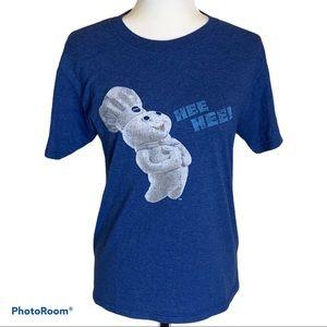 🔥4/$20 Vintage Ladies Pilsbury Doughboy t-shirt